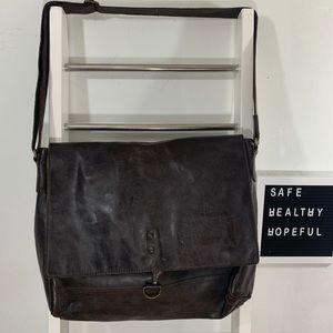 Banana Republic Leather Messenger Bag
